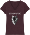T-shirt col en V en coton bio «Namaste» pour femme-Femme>Tee-shirts-Tunetoo-Heather Grape Red-XS-Mybouddha