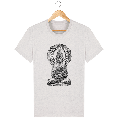 T-shirt en coton bio «Bouddha Mandala» pour Homme - Collection Django Ettori-Homme>Tee-shirts-Tunetoo-Cream Heather Grey-XXS-Mybouddha