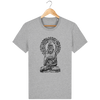 T-shirt en coton bio «Bouddha Mandala» pour Homme - Collection Django Ettori-Homme>Tee-shirts-Tunetoo-Heather Grey-XXS-Mybouddha