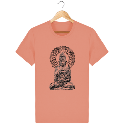 T-shirt en coton bio «Bouddha Mandala» pour Homme - Collection Django Ettori-Homme>Tee-shirts-Tunetoo-Sunset Orange-XS-Mybouddha