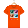 T-shirt en coton bio «Bouddha Pop» pour Homme - Collection Django Ettori-Homme>Tee-shirts-Tunetoo-Bright Orange-XS-Mybouddha