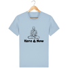 T-shirt en coton bio « Here & Now » pour homme-Homme>Tee-shirts-Tunetoo-Sky blue-XS-Mybouddha