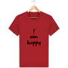 T-shirt en coton bio « I am Happy » pour homme-Homme>Tee-shirts-Tunetoo-Red-XXS-Mybouddha