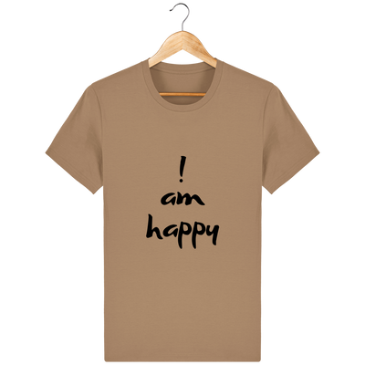 T-shirt en coton bio « I am Happy » pour homme-Homme>Tee-shirts-Tunetoo-Camel-XS-Mybouddha