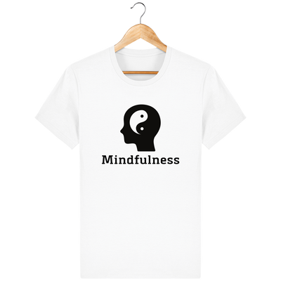 T-shirt en coton bio «Mindfulness» pour homme, à col rond-Homme>Tee-shirts-Tunetoo-White-XXS-Mybouddha
