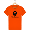 T-shirt en coton bio «Mindfulness» pour homme, à col rond-Homme>Tee-shirts-Tunetoo-Bright Orange-XS-Mybouddha