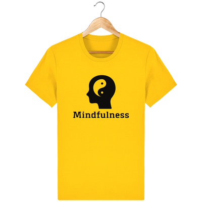 T-shirt en coton bio «Mindfulness» pour homme, à col rond-Homme>Tee-shirts-Tunetoo-Golden Yellow-XS-Mybouddha