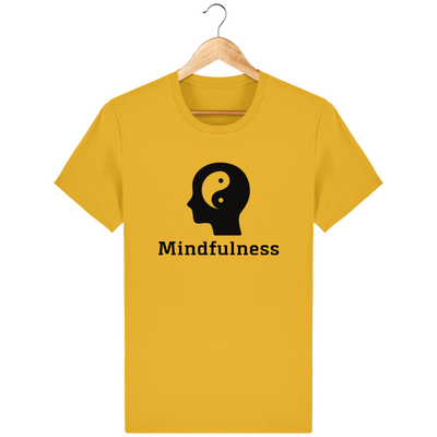 T-shirt en coton bio «Mindfulness» pour homme, à col rond-Homme>Tee-shirts-Tunetoo-Spectra Yellow-XS-Mybouddha