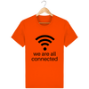 T-shirt en coton bio « We are all connected» pour homme-Homme>Tee-shirts-Tunetoo-Bright Orange-XS-Mybouddha