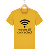T-shirt en coton bio « We are all connected» pour homme-Homme>Tee-shirts-Tunetoo-Spectra Yellow-XS-Mybouddha