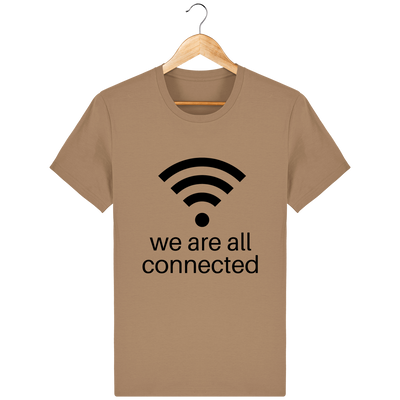 T-shirt en coton bio « We are all connected» pour homme-Homme>Tee-shirts-Tunetoo-Camel-XS-Mybouddha