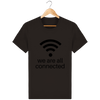 T-shirt en coton bio « We are all connected» pour homme-Homme>Tee-shirts-Tunetoo-Deep Chocolate-XS-Mybouddha