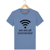 T-shirt en coton bio « We are all connected» pour homme-Homme>Tee-shirts-Tunetoo-Mid Heather Blue-XXS-Mybouddha