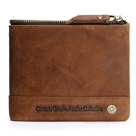 Bifold Slim Genuine Leather Thin Wallet for Men