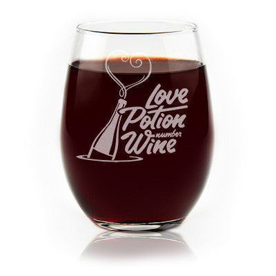 Love Potion Number Wine - Stemless Wine Glass