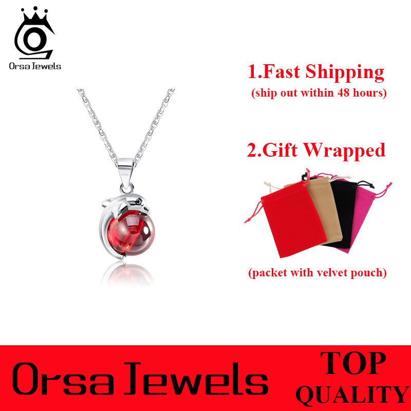 Genuine sterling silver red agate dolphin pendant necklaces for genuine sterling silver red agate dolphin pendant necklaces for women aloadofball Choice Image
