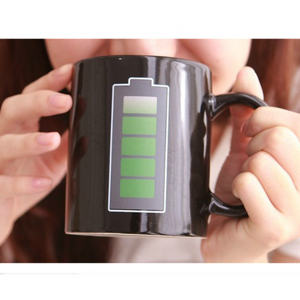 Magic Color Changing Mug (Battery Level) - HAYKU
