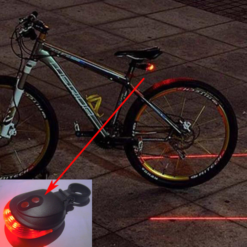 Bicycle rear light + 2 Lasers - HAYKU