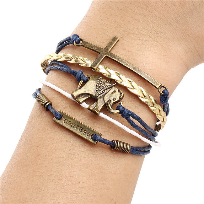 Multilayer Leather & Metal Bracelet - HAYKU