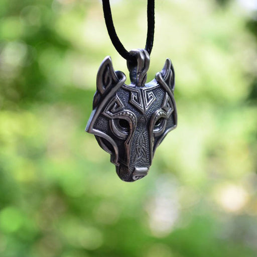 Metal Wolf Head Necklace - HAYKU