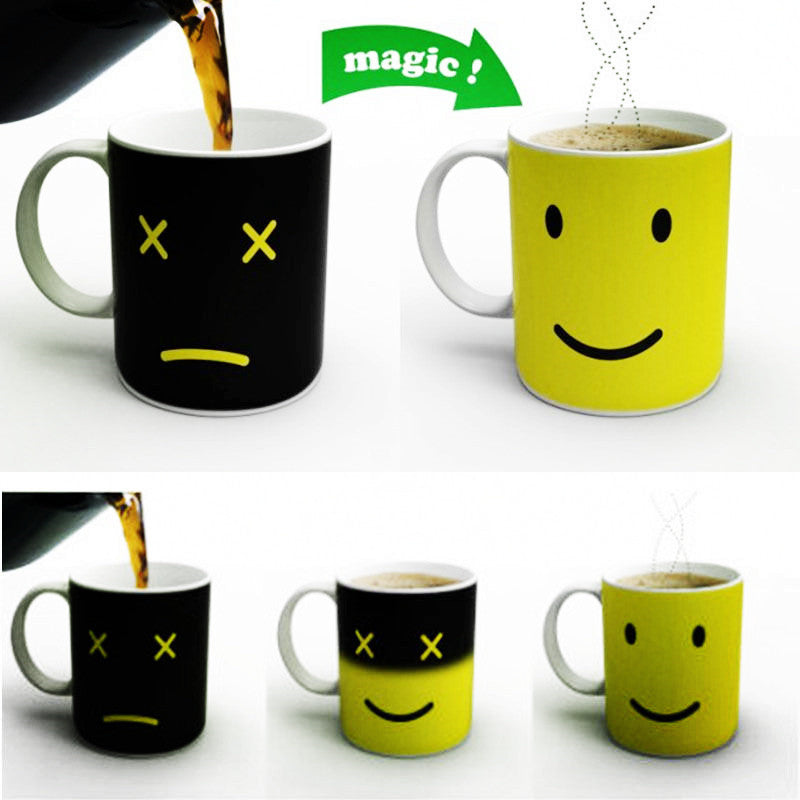 Temperature Sensing Mug (Smiling Face) - HAYKU