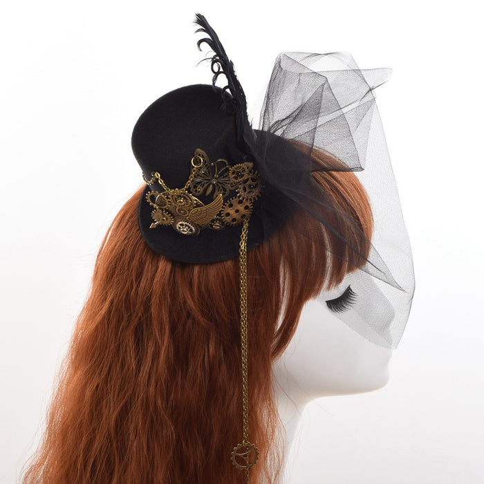 Steampunk Mini Top Hat Hair - HAYKU