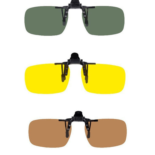 Magic Clip : Polarized Clip On Sunglasses /Driving (Night Vision) Lens UV400 - HAYKU