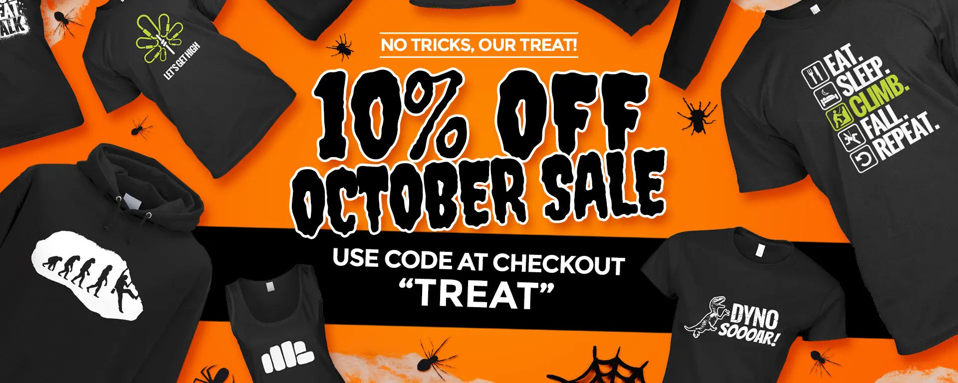 10% Off October Sale on all clothing - Climbing Porn