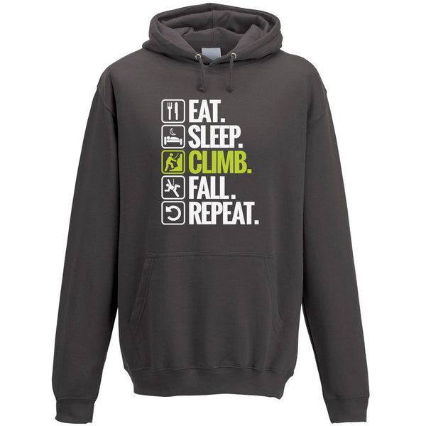 Eat. Sleep. Climb. Fall. Repeat. Men's Hoodie