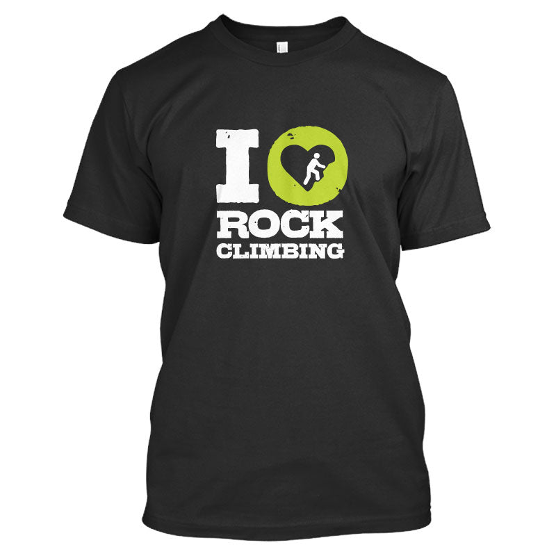 I Love Climbing Men's T Shirt