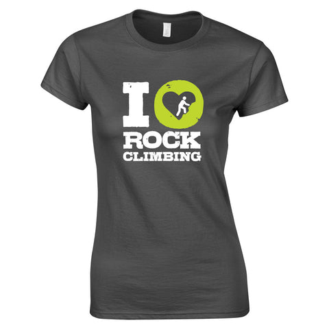 I Love Climbing Women's T Shirt