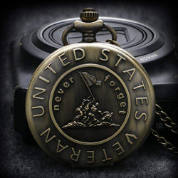 'Never Forget' Pocket Watch-My Outdoor Shop