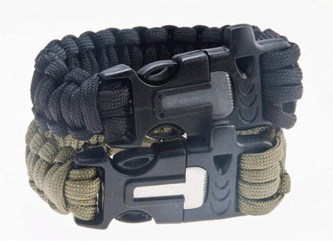 Paracord Survival Bracelet - Flint Fire Starter and Whistle-My Outdoor Shop