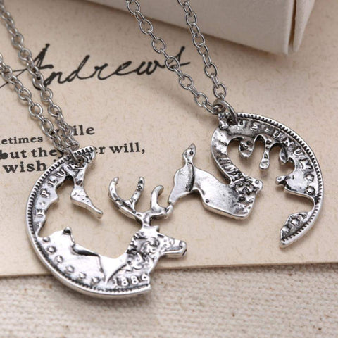 Vintage HIS & HERS Buck Doe Necklace-My Outdoor Shop