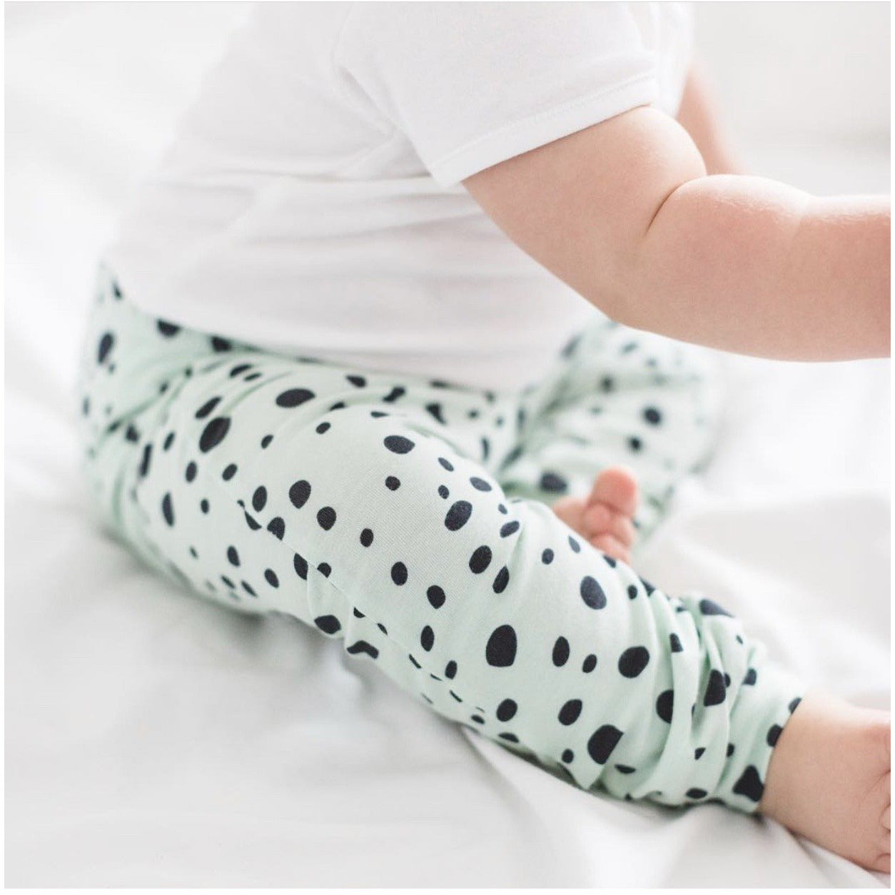 Organic Dots in Mint Trousers