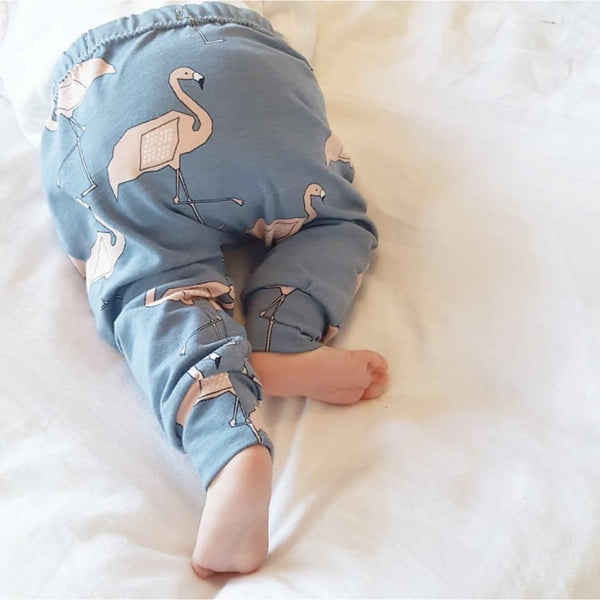 Organic Flamingo Blue Cotton Pants
