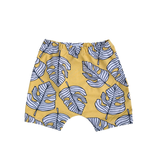 Monstera Gold Organic Cotton Shorts