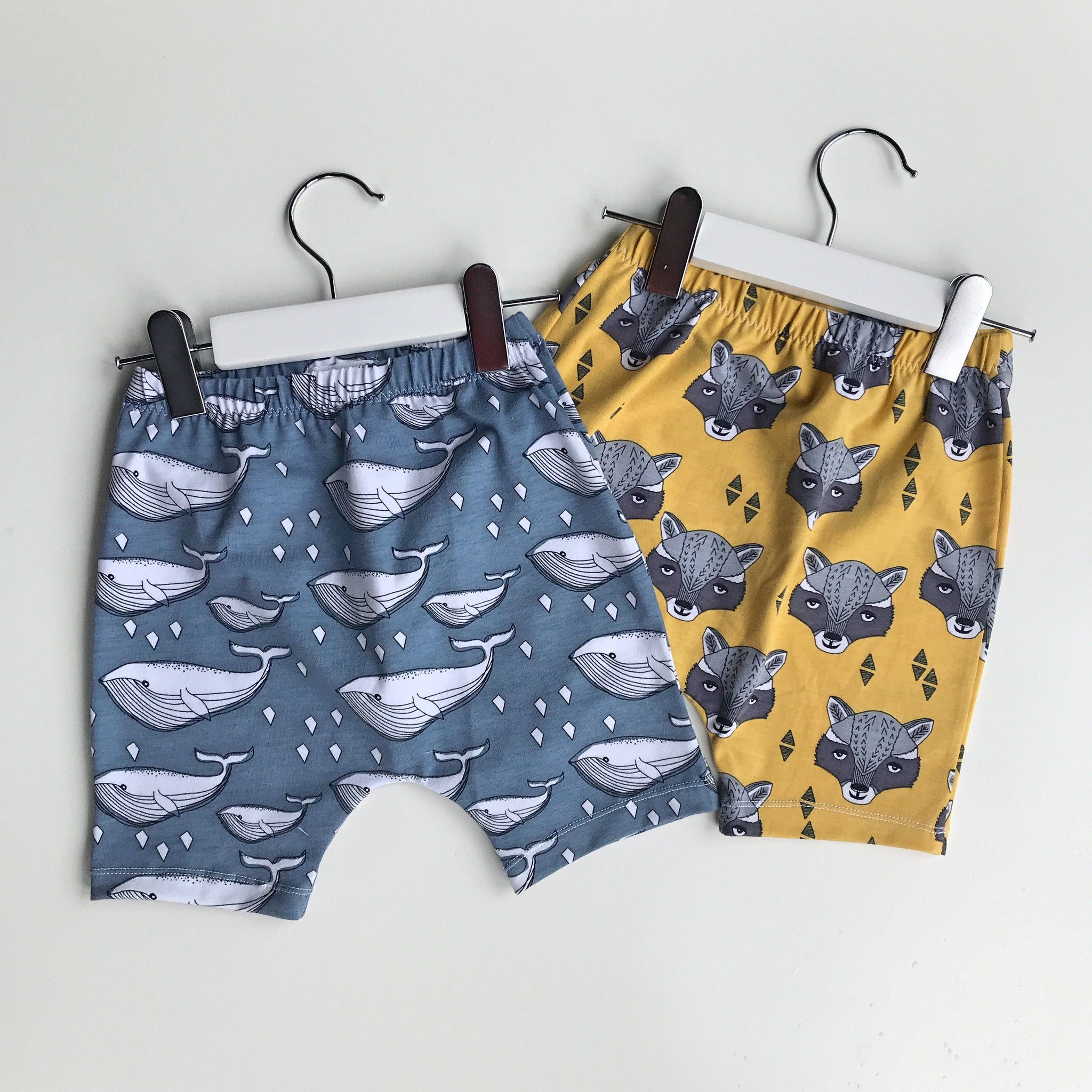 Organic Whale Cotton Shorts in Blue