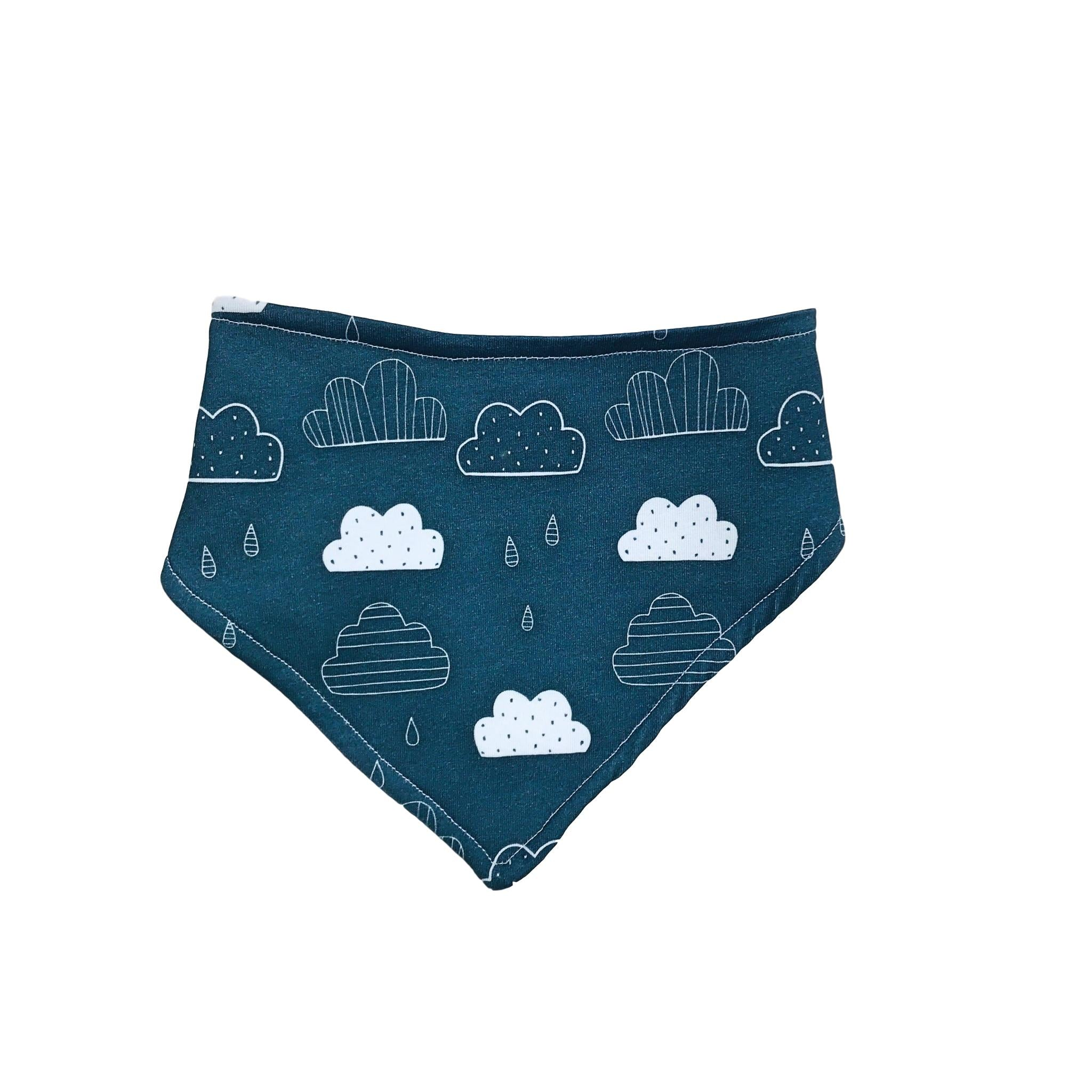 Organic Rainy Clouds Cotton / Bamboo Bib