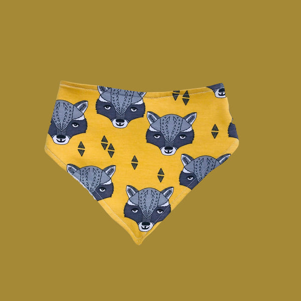 Organic Cotton / Bamboo Raccon Head in Mustard