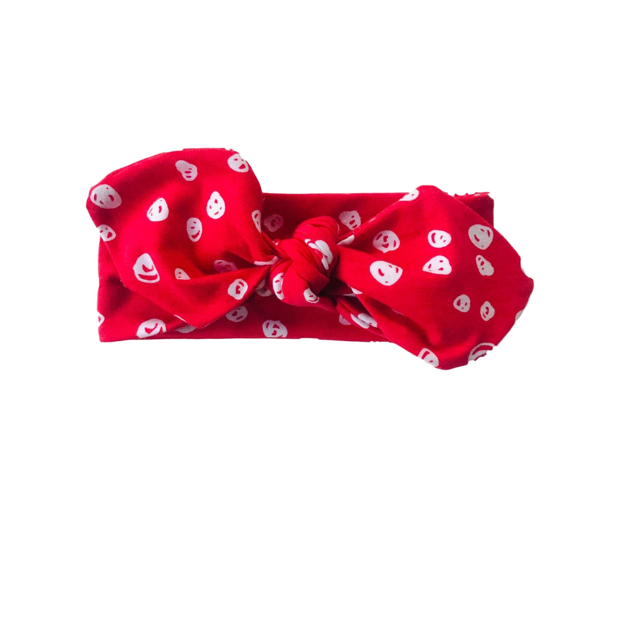 Headband 0 - 2 years Organic Confetti Red & White