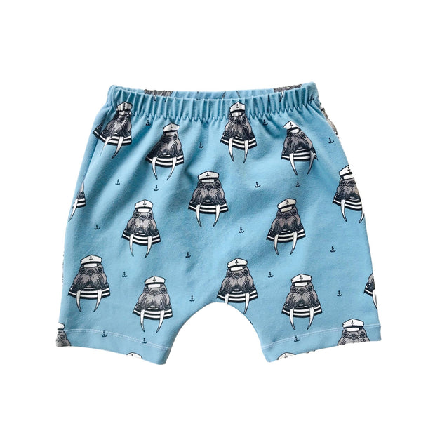 Captain Walrus Organic Cotton Shorts - Dream Blue