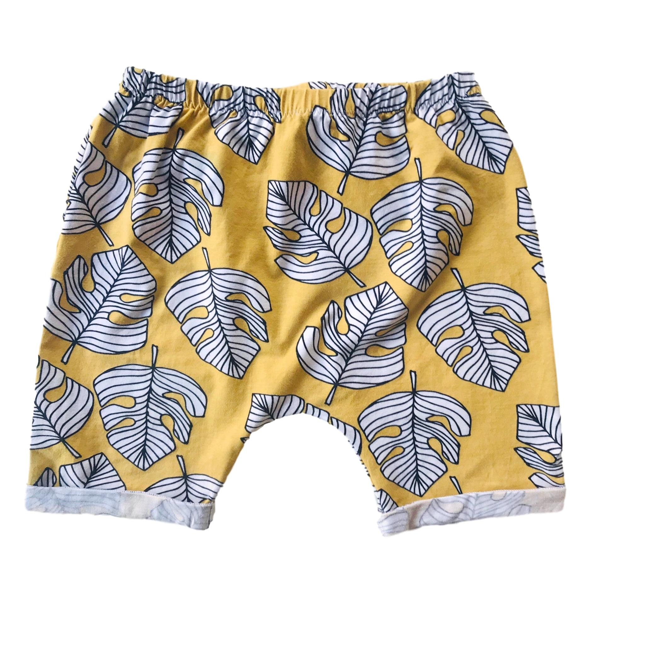 Monstera Gold Cotton Shorts 2 - 5 years