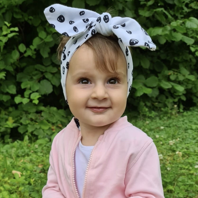 Headband 0 - 2 years Organic Confetti Black & White