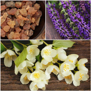 Jasmine essential oil, Clary Sage essential oils for hormonal balancing