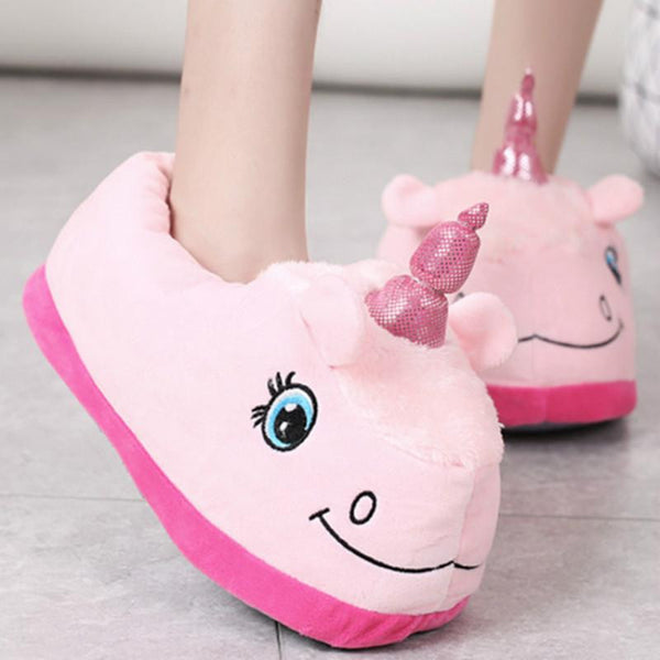 Pink boaty mcboatface unicorn Slippers, , Unicorn Rhapsody, unicorn products, unicorn stuff