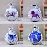 Silver unicorn Mirror Case Quartz Pocket Watch, , Unicorn Rhapsody, unicorn products, unicorn stuff