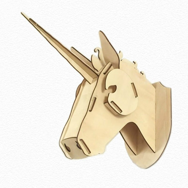 3D Wooden Unicorn Head - Unicorn Rhapsody