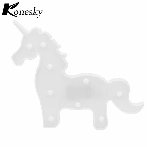 Unicorn Shape LED Night Light Warm White Bedside Lamp Table Light Battery Operated for Christmas New Year Party Decoration, , Unicorn Rhapsody, unicorn products, unicorn stuff