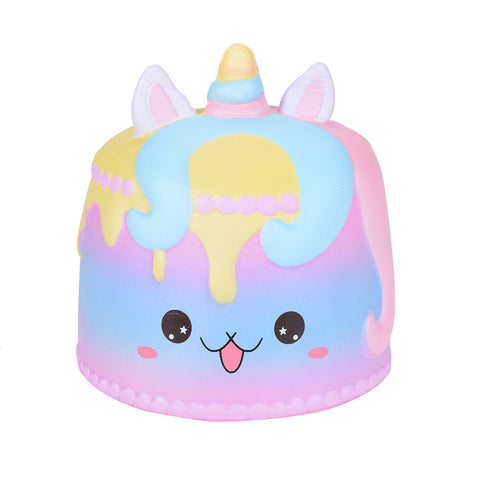 Jumbo Cartoon Unicorn Cake Squishies Scented Cream Super Slow Rising Squeeze Toy, , Unicorn Rhapsody, unicorn products, unicorn stuff